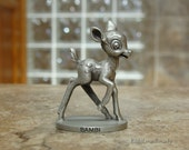 1978 Walt Disney Character Bambi Miniature Figurine ~ Fine Pewter ~ Schmid 0098 ~ cWalt Disney Prod. ~ USA