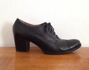 Chunky heel oxford | Etsy
