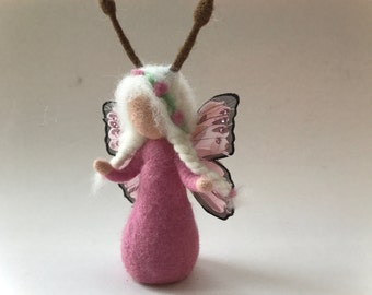 Butterfly fairy.felted. Wet  felted. Waldorf.Flower child.