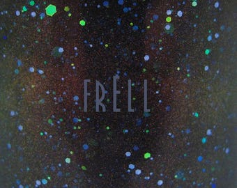 "Frell glitter nail polish 15 mL (.5 oz) from the ""S(!-l=!"" Collection"