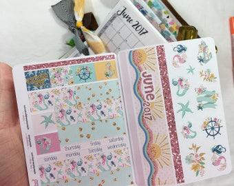 Summer Mermaid Sampler Stickers, War Binder Stickers, Bible Stickers, Planner Stickers, Tab Stickers, Prayer Journal