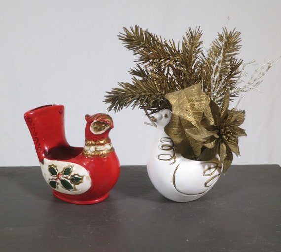 Pair of vintage s christmas mid century modern