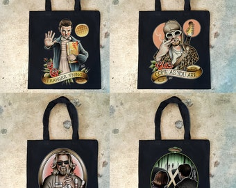 "13X15"" Black Canvas Totebag"