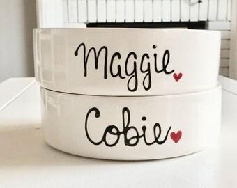 Custom Dog Bowl, Pet Bowls Personalized-  Handmade Dog Bowls - Ceramic Cat Bowls-  Personalized Dog Bowls- Personalized Cat Bowls- Food Bowl