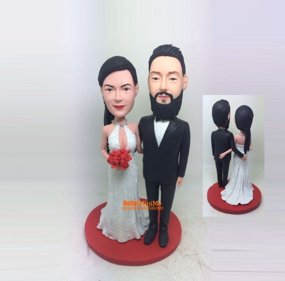 wedding cake topper bobblehead wedding topper custom cake. Black Bedroom Furniture Sets. Home Design Ideas