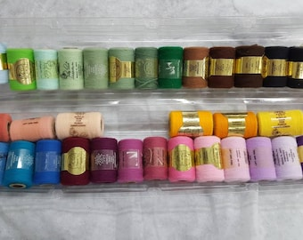 36 NEW spools of acrylic yarn for needle punch.  Nice assortment 225 yards per spool.  Needle punch embroidery thread