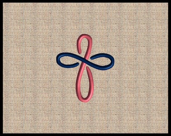 Cross Machine Embroidery Design Scrolls Filigree Cross Embroidery Design Simple Cross Embroidery Design