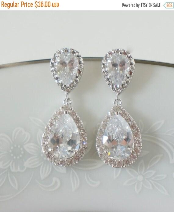 ON SALE Bridal Earrings Wedding Jewelry Set Rose by ...