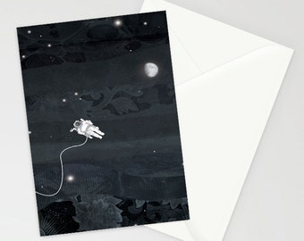Solitude in space a6 greetings card