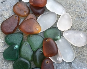 Top Drilled, Sea Glass Pendants, Jewelry Quality, Glass Beach,  Vintage, Natural, Beach Gypsy Soul Boho