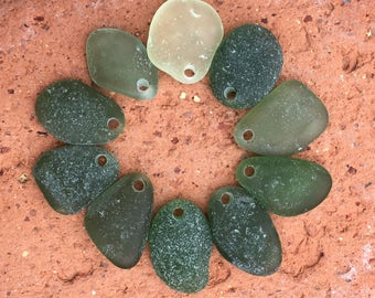 Genuine Sea Glass, Pendants, Top Drilled, Jewelry Quality, Glass Beach, Vintage, Natural, Beach Gypsy Soul, Boho, Artisan, Unique, Unusual