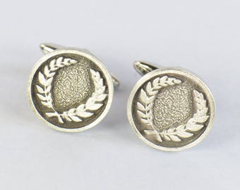 Laurel Wreath Cufflinks.Stainless steel leg.Mens Gift.Olympic cufflinks