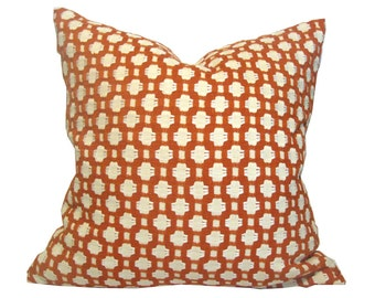 Designer Pillow Cover Schumacher Betwixt 17 x 17 Inches in Colorway Spark