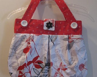 Bright Red, White and Black Handbag/Purse/Tote