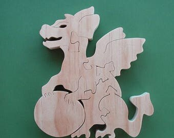Wanna Play Toy Wood Puzzle ( Larger Puzzle Pieces) Cut On Scroll Saw