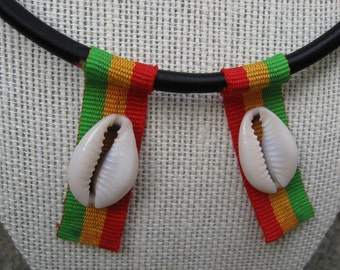 Cowrie Shell RASTA Necklace : Ethiopia Rastafari