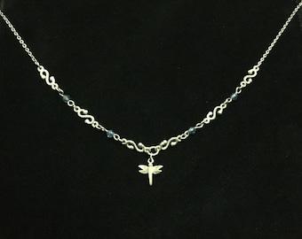 Vintage Dragonfly Necklace (JT5)