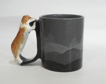 Rough Collie  Mug Sable Shetland Sheepdog Mug Herding Dog Handle Cup Sheltie Drinkware
