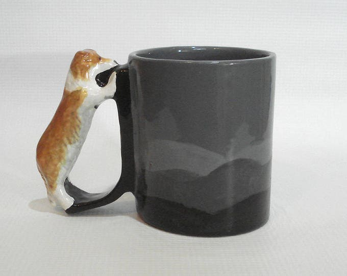 Featured listing image: Rough Collie  Mug Sable Shetland Sheepdog Mug Herding Dog Handle Cup Sheltie Drinkware