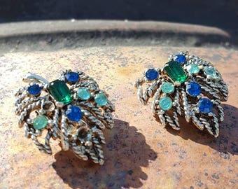 Clip on rhinestone earrings