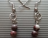 Brown Beaded Earrings 58