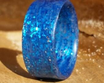 Galaxy Blue Matte Ring