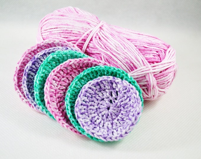 Facial scrubbies, cotton scrubbies, crochet scrubbies, face scrubbies, cotton facial pads, handmade scrubbies, scrub, bath accessories