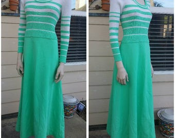 Vintage 70s knitted maxi dress