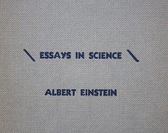 Vintage Einstein Book - Albert Einstein Essays in Science - Geek Decor - Vintage Science Book - Science Gift - Science Decor -Scientist Gift