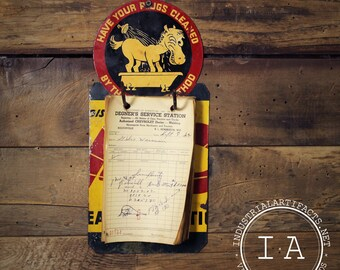 Vintage Repurposed AC Delco Spark Plug Flange Sign Note Pad
