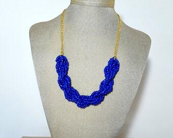 Sapphire Blue Twist Necklace