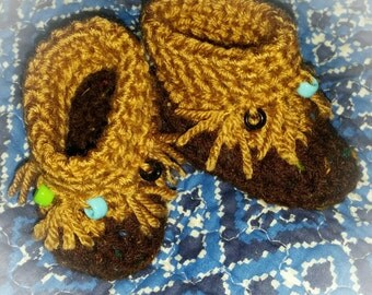 Baby bootie moccasin