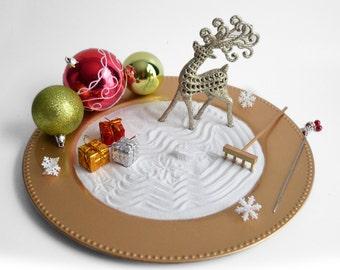 Venta / vacaciones jardín Zen / / adornos de Navidad / / mesa centro de mesa / / ornamentos / oro decoración / DIY Kit / / meditación