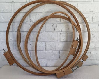 Vintage Large Embroidery Hoops (set of 4)