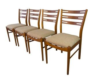 Teak Dining Chairs Mid Century Danish Modern