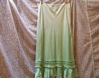 Hombre' Fade Celery Green Bias Cut Skirt - Size 4 - Red Dirt Girl - 306