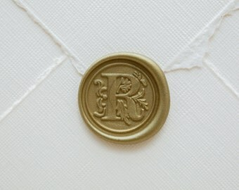 R letter wax seal