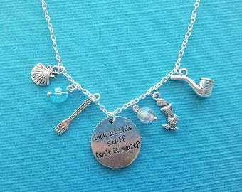Ariel inspired necklace - Look at this stuff isn't it neat? - Little Mermaid - Great Fish Extender gift - FE gift -  for Disney cruise!