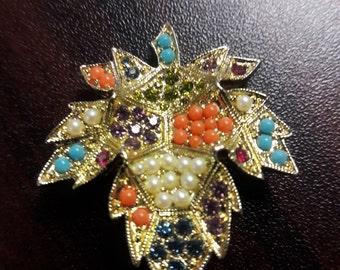 Vintage 1960's D'Orlan Brooch by Bijoux D'Orlan Maple Leaf Pin