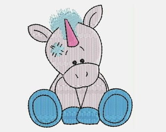 Legend the Unicorn  Machine Embroidery Designs - Instant Download Filled Stitches Embroidery Design 259