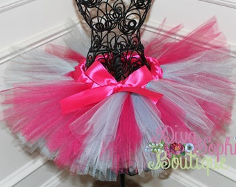 Hot Pink and Turquoise Tutu - Birthday Tutu