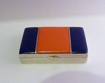 Fabergé jewellery / Faberge jewelry Victor Mayer Pforzheim Art Deco compacts solid silver compacts enamel compacts guilloche