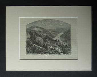 1880s Antique River Wye Valley Print, Available Framed, Wyndcliff Art, Welsh Landscape Picture, Wales Gift, Monmouthshire Decor, St Arvans