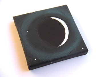 Crescent Moon - ORIGINAL PAINTING - Tiny Painting