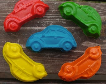 Car Crayons set of 20 - Party Favors - Classic Cars - Cars Party