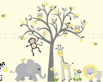 Safari Wall Decal Etsy - Nursery wall decals jungle