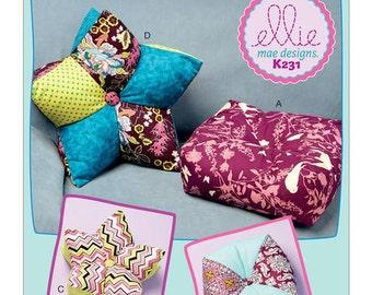 Kwik Sew 231 Kwik Sew 0231 Pillows in Three Styles, New Uncut Sewing Pattern, Throw pillow pattern, DIY throw pillows