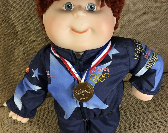 Olympic Cabbage Patch doll, OlympiKids 1996, Vintage Olympic Cabbage Patch Doll, Cabbage Patch Collectible, USA Olympic collectibles