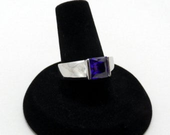 vintage cubic zirconia ring - size 7