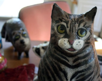 Whimsical  Custom Paper Mache Pet Sculptures